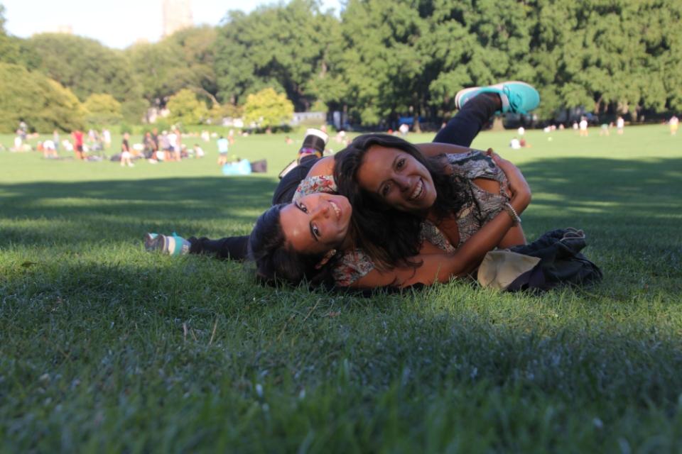 Celebrar o meu aniversário com uma das minhas melhores amigas no Central Park