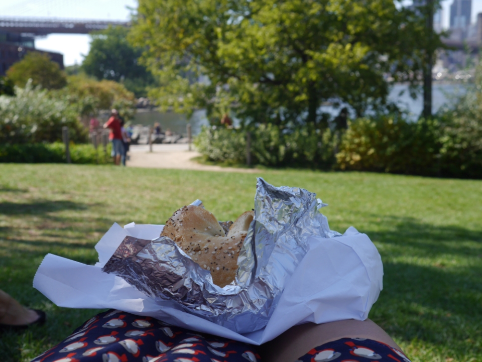 Bagel with a view :)