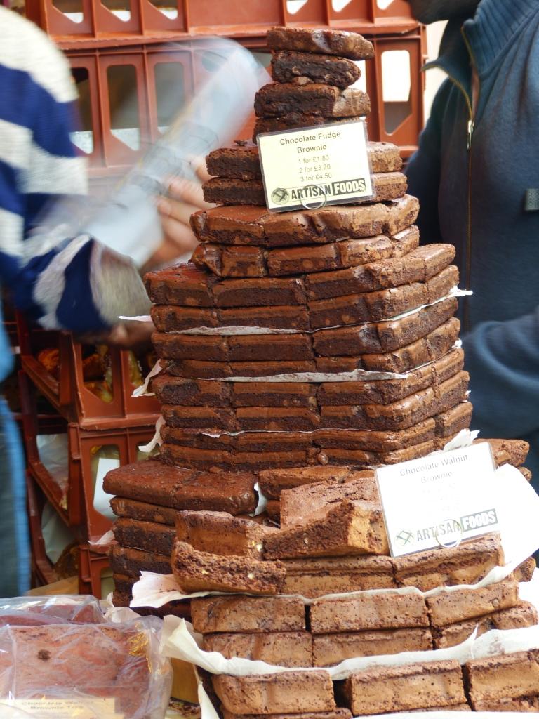 Uma piquena pilha de brownies